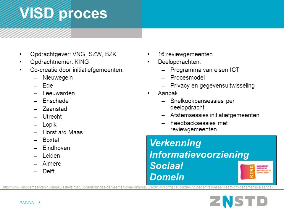VISD proces Verkenning Informatievoorziening Sociaal Domein