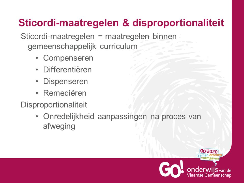 Sticordi-maatregelen & disproportionaliteit