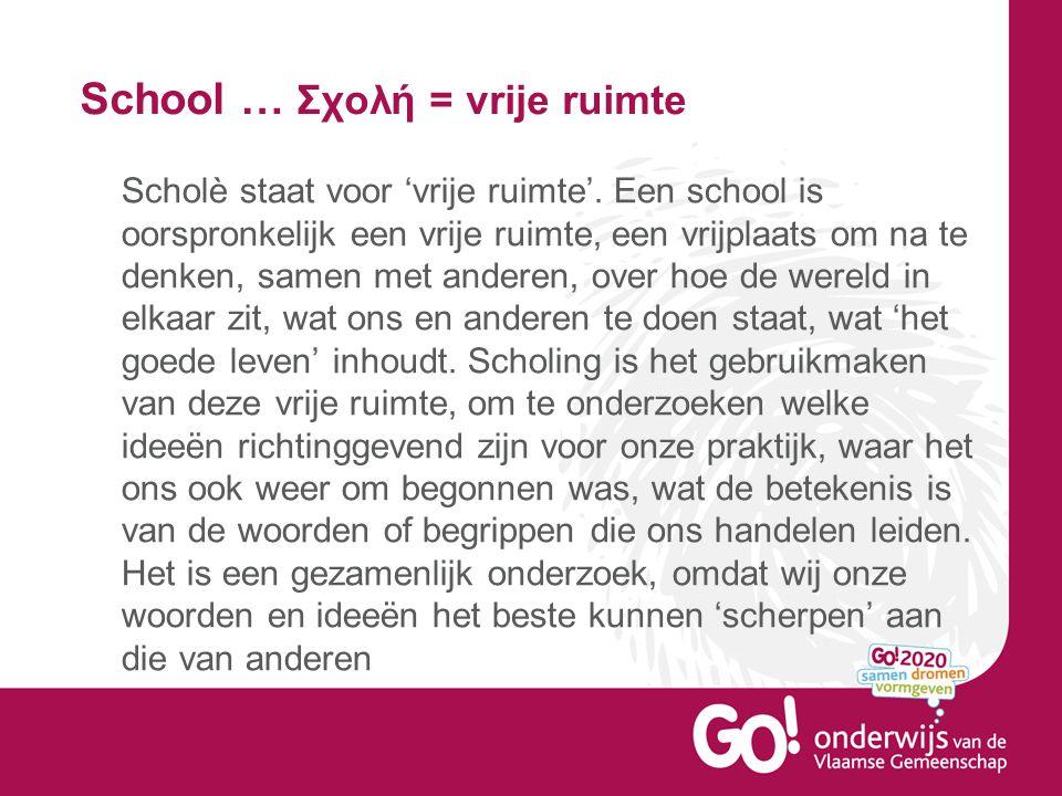 School … Σχολή = vrije ruimte