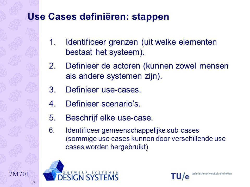 Use Cases definiëren: stappen
