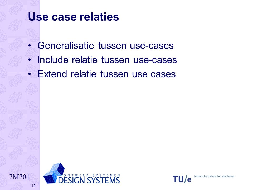 Use case relaties Generalisatie tussen use-cases