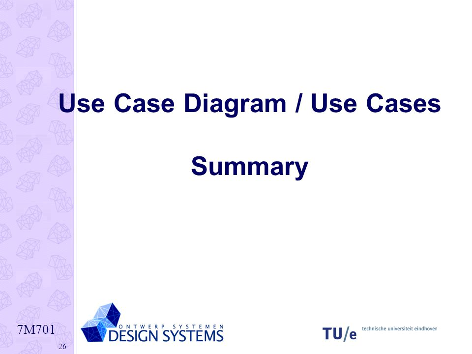 Use Case Diagram / Use Cases Summary