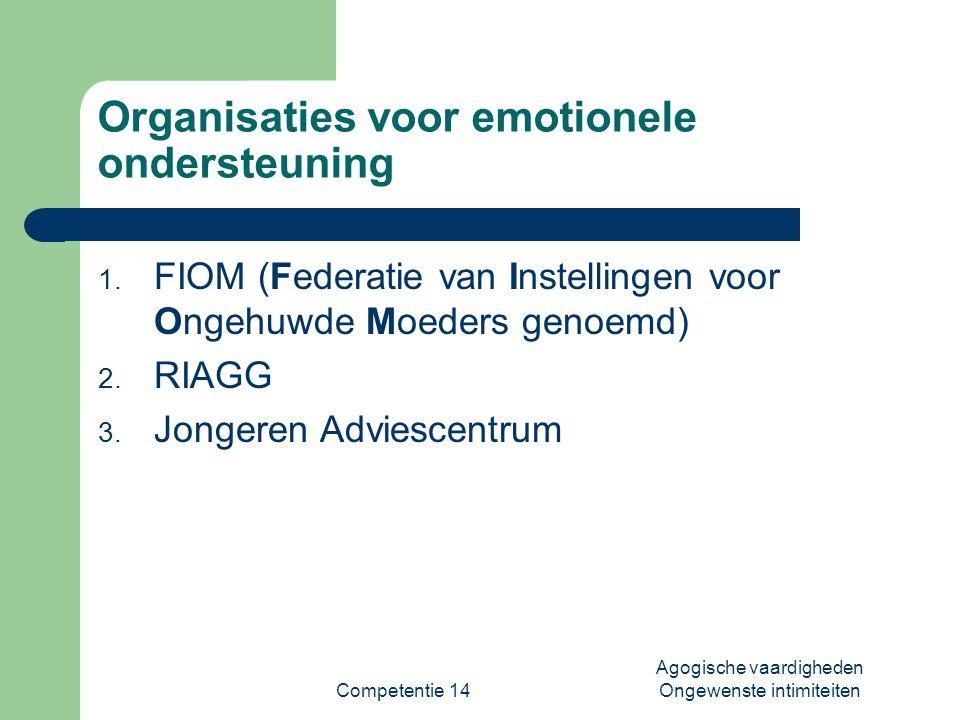 Organisaties voor emotionele ondersteuning