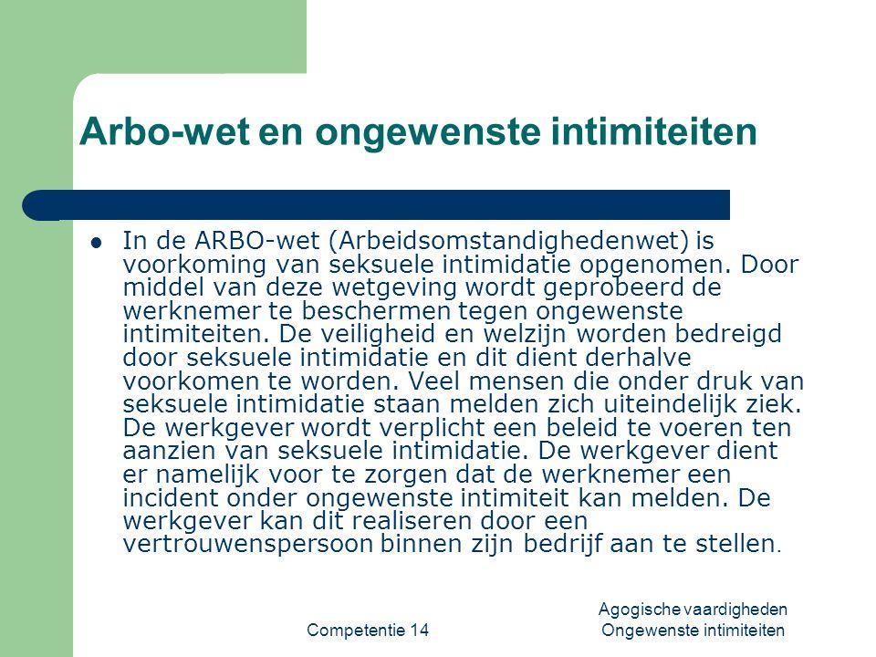 Arbo-wet en ongewenste intimiteiten