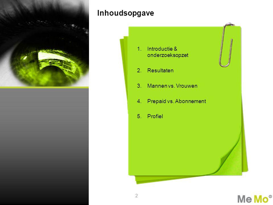 Introductie & onderzoeksopzet