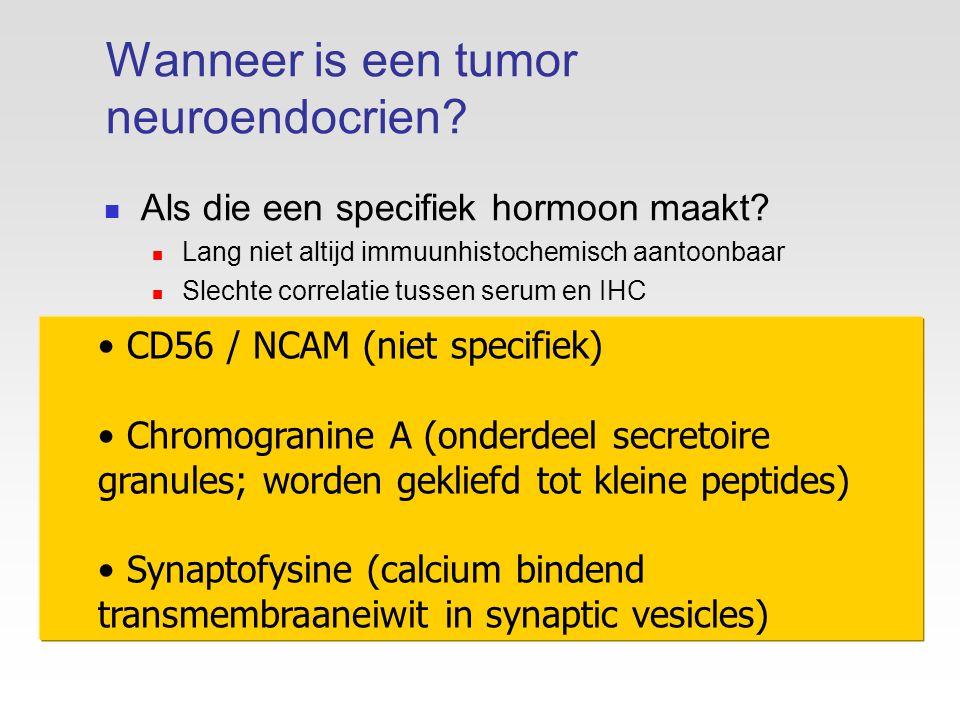 Wanneer is een tumor neuroendocrien
