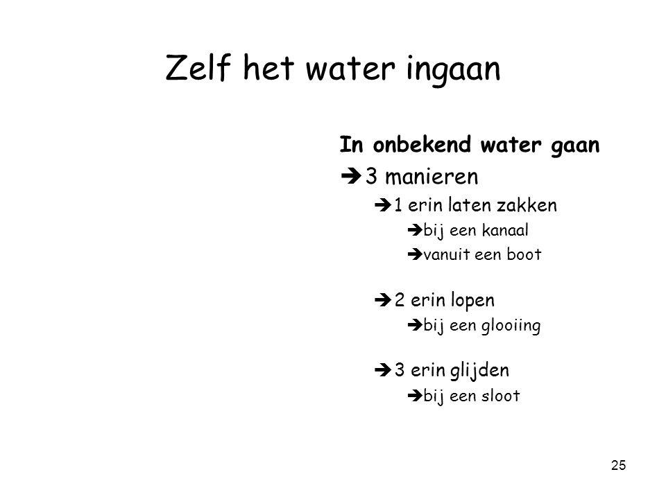 Zelf het water ingaan In onbekend water gaan 3 manieren