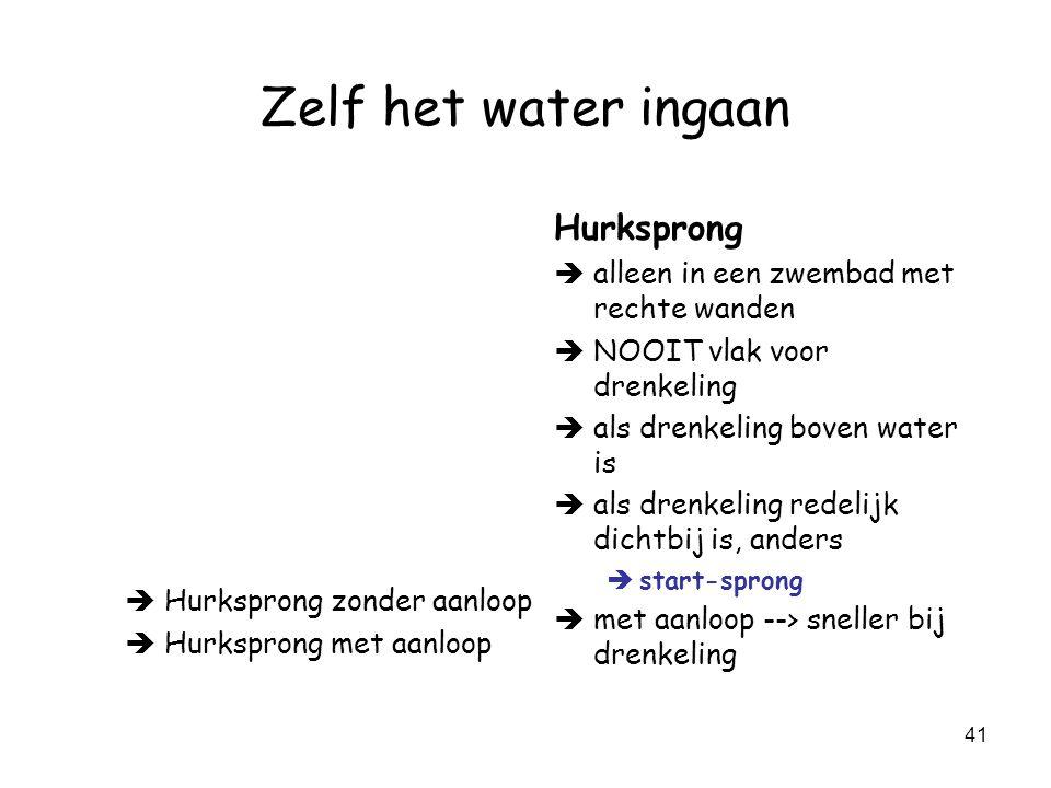 Zelf het water ingaan Hurksprong