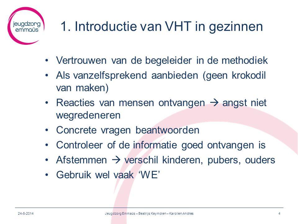 1. Introductie van VHT in gezinnen
