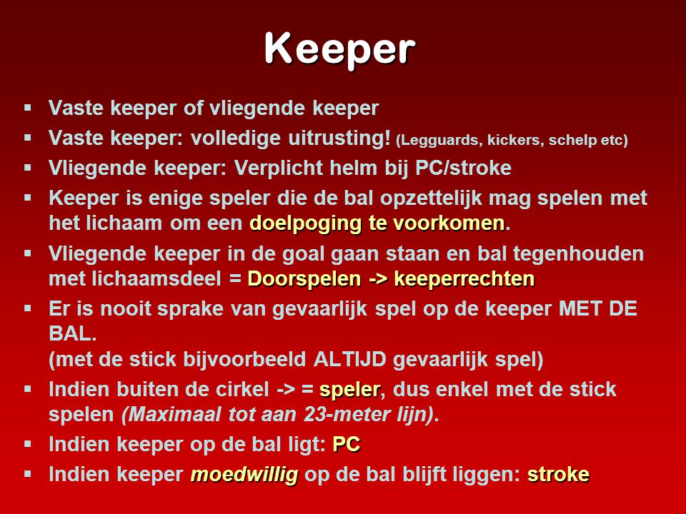 Keeper Vaste keeper of vliegende keeper