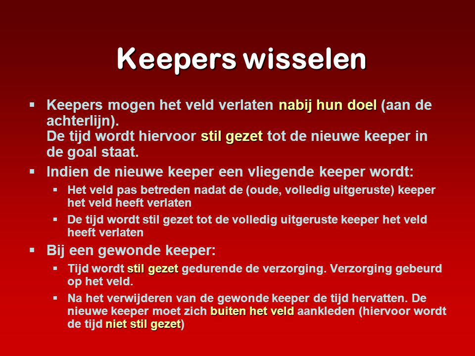 Keepers wisselen
