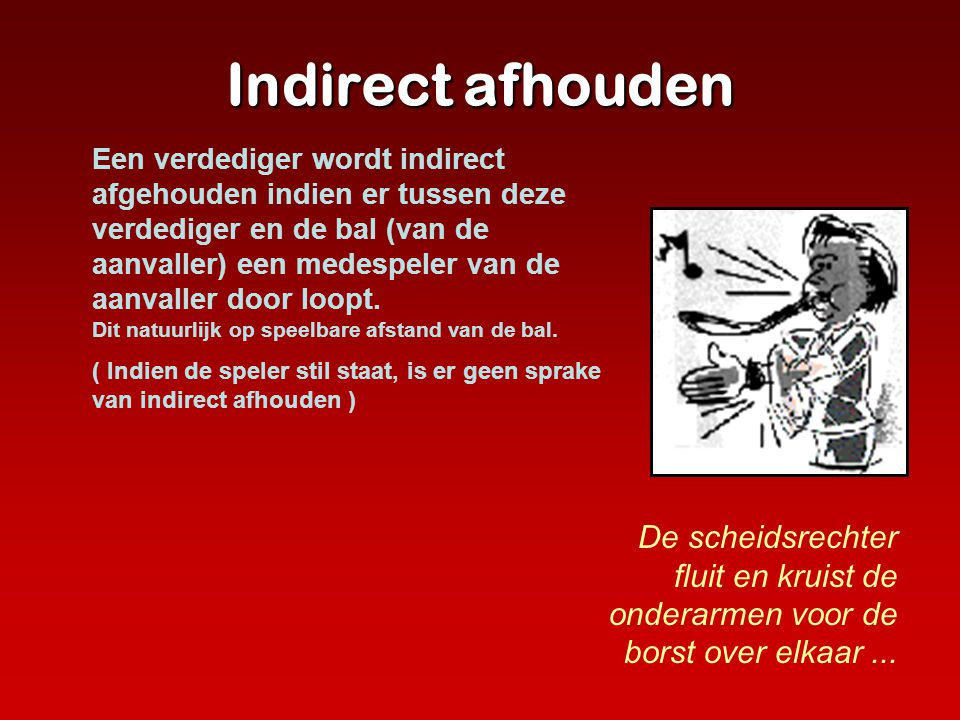 Indirect afhouden