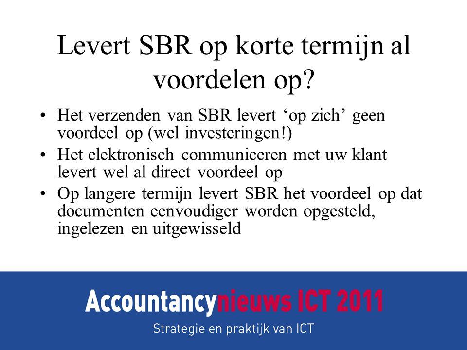 Levert SBR op korte termijn al voordelen op