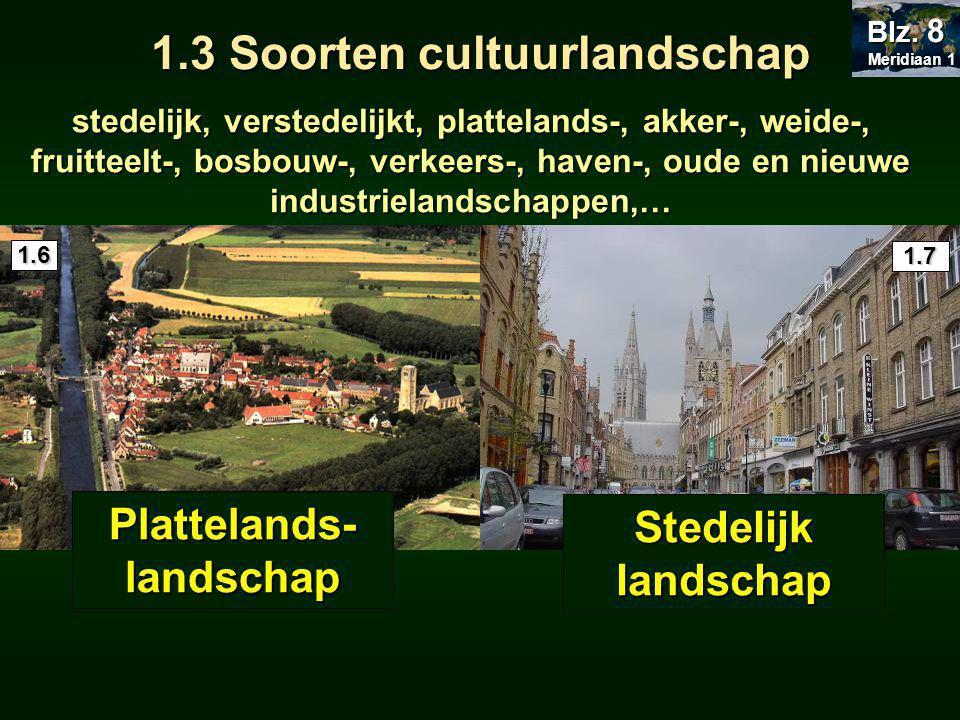 1.3 Soorten cultuurlandschap Plattelands-landschap