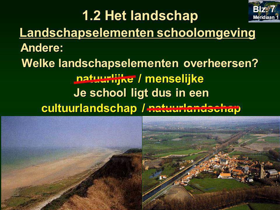 1.2 Het landschap Landschapselementen schoolomgeving Andere: