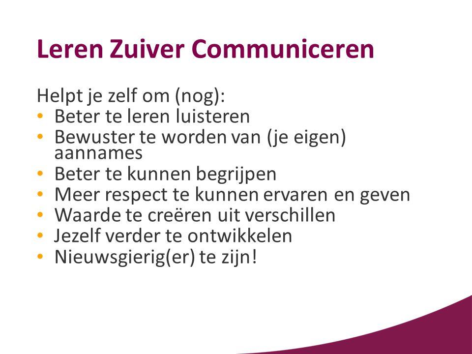 Leren Zuiver Communiceren