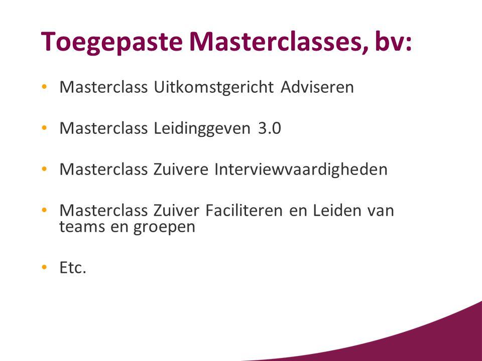 Toegepaste Masterclasses, bv: