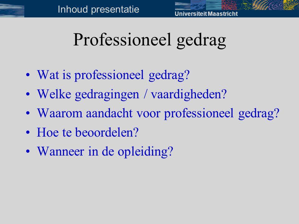Professioneel gedrag Wat is professioneel gedrag