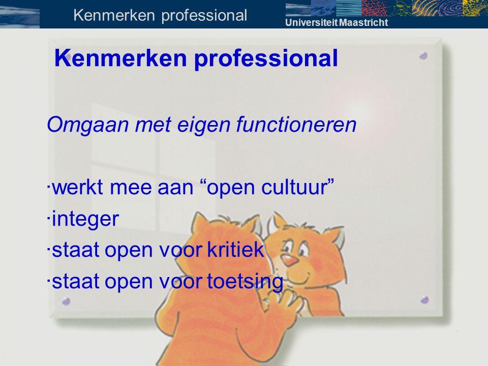 Kenmerken professional