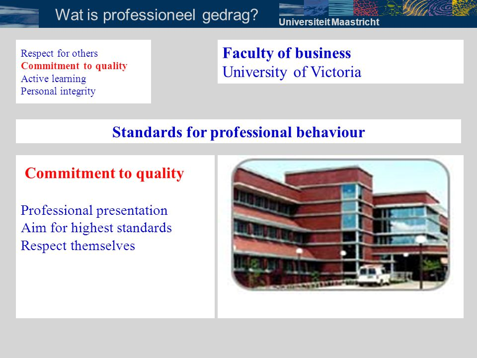 Standards for professional behaviour