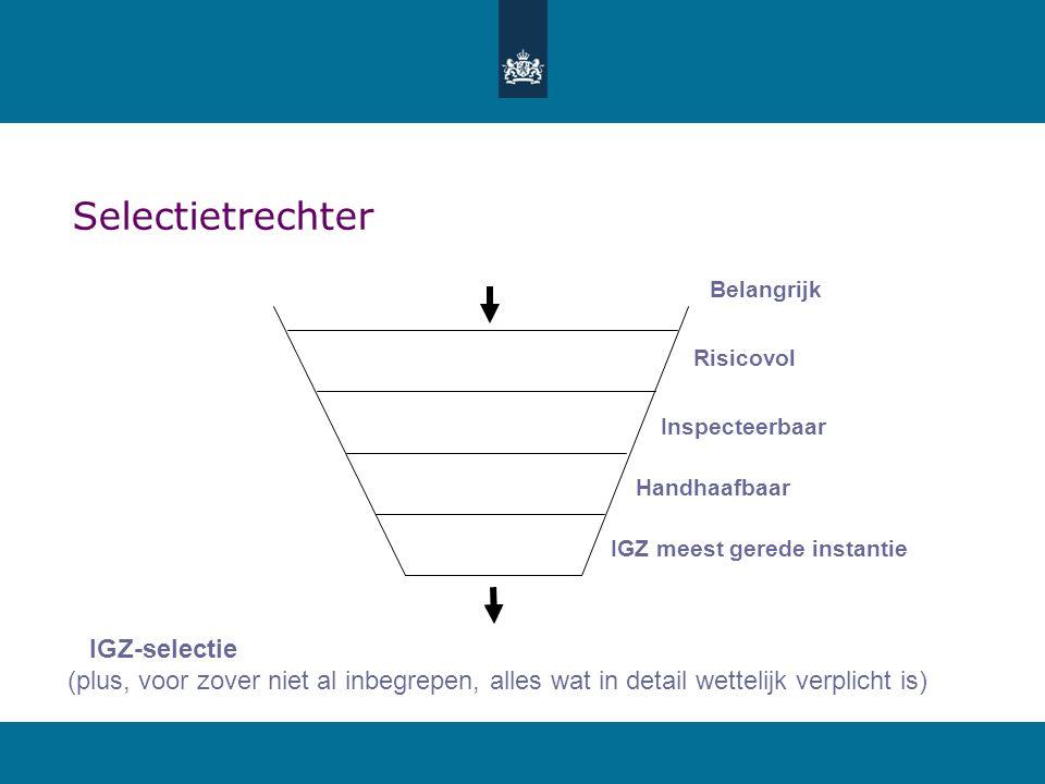 Selectietrechter IGZ-selectie