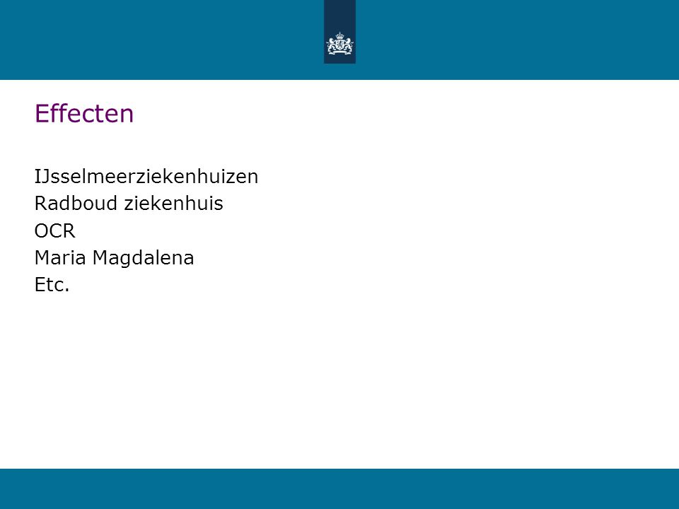 Effecten IJsselmeerziekenhuizen Radboud ziekenhuis OCR Maria Magdalena