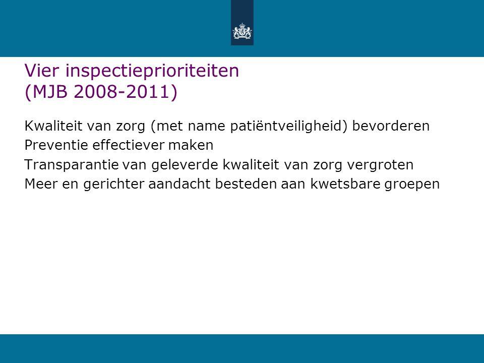 Vier inspectieprioriteiten (MJB 2008-2011)