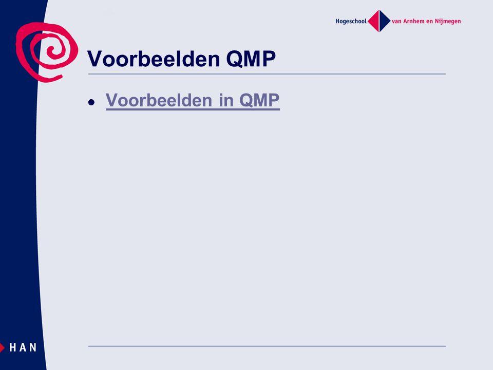 Voorbeelden QMP Voorbeelden in QMP Oefentoets meetnauwkeurigheid