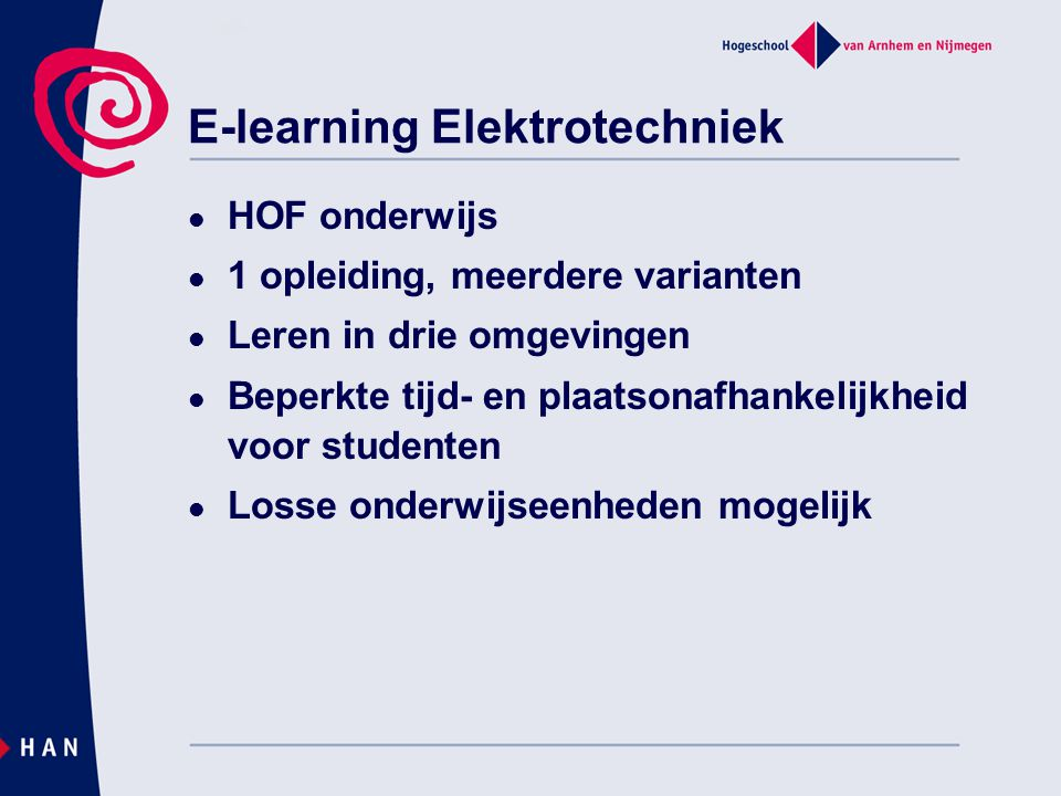 E-learning Elektrotechniek