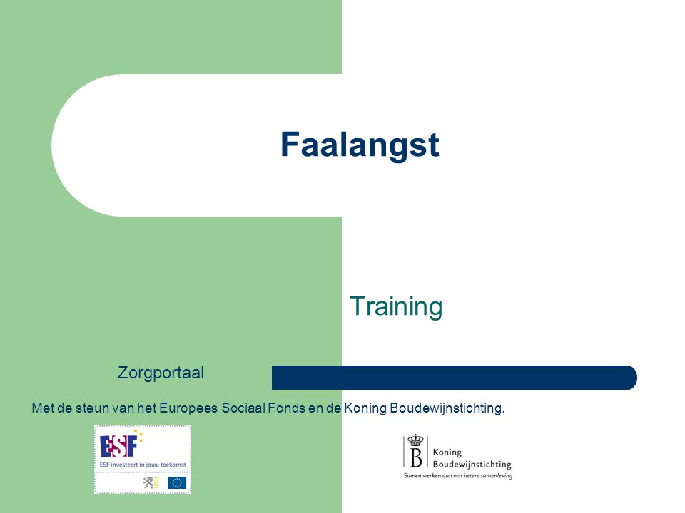 Faalangst Training Zorgportaal - ppt download