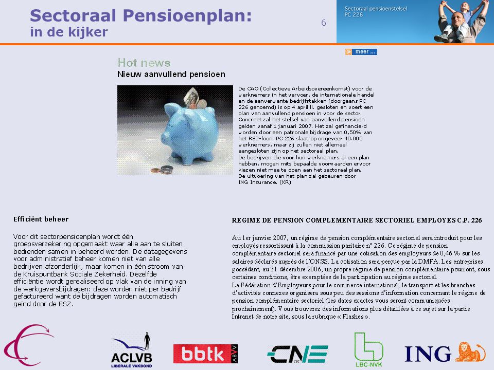 Sectoraal Pensioenplan: in de kijker