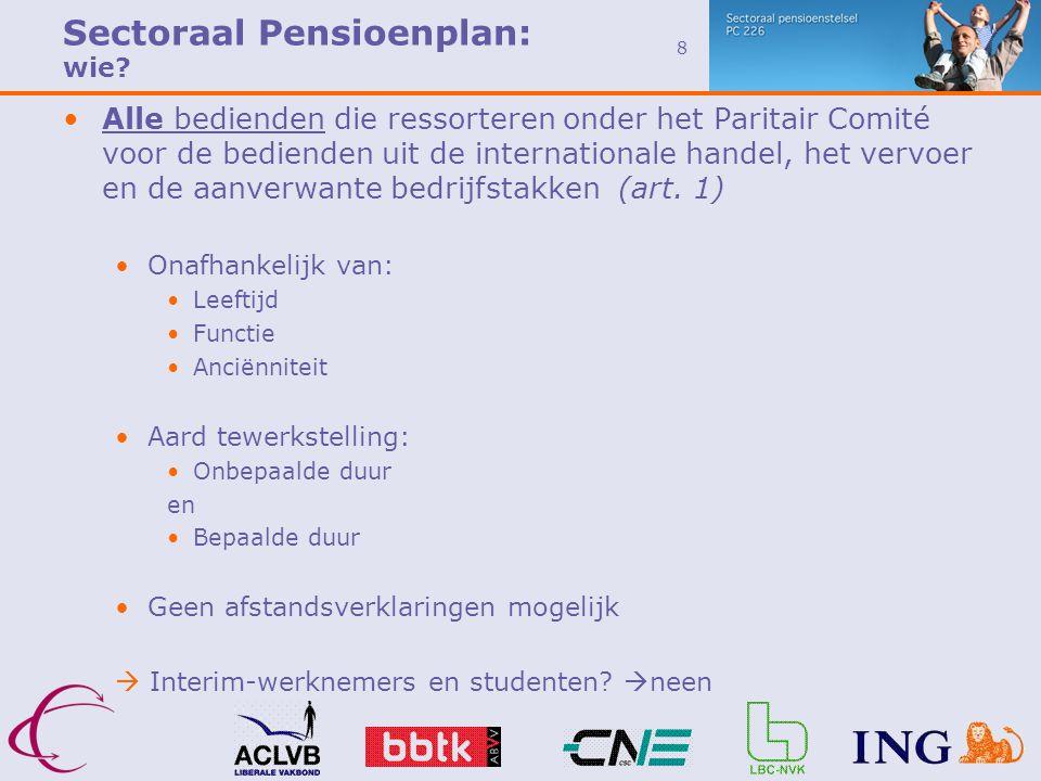 Sectoraal Pensioenplan: wie