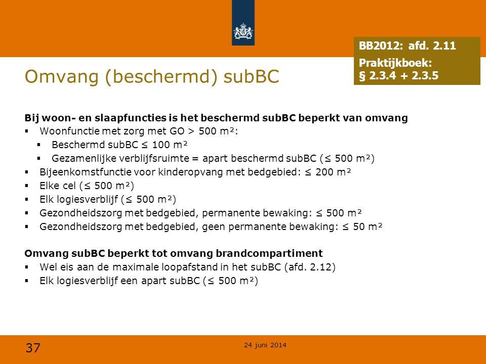 Omvang (beschermd) subBC