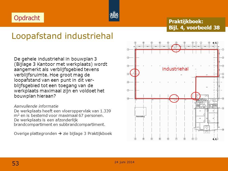 Loopafstand industriehal