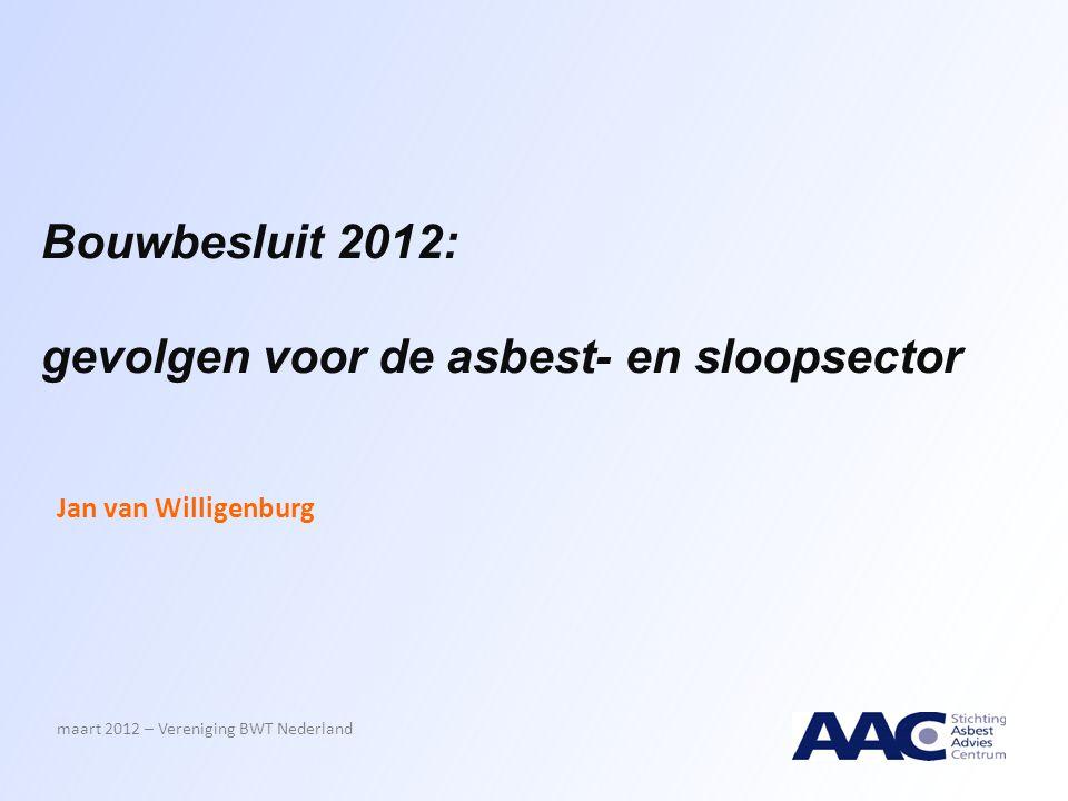 gevolgen voor de asbest- en sloopsector