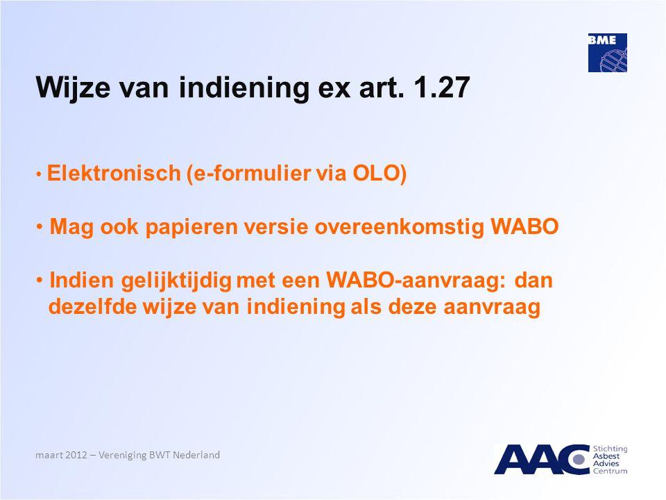 Wijze van indiening ex art. 1.27
