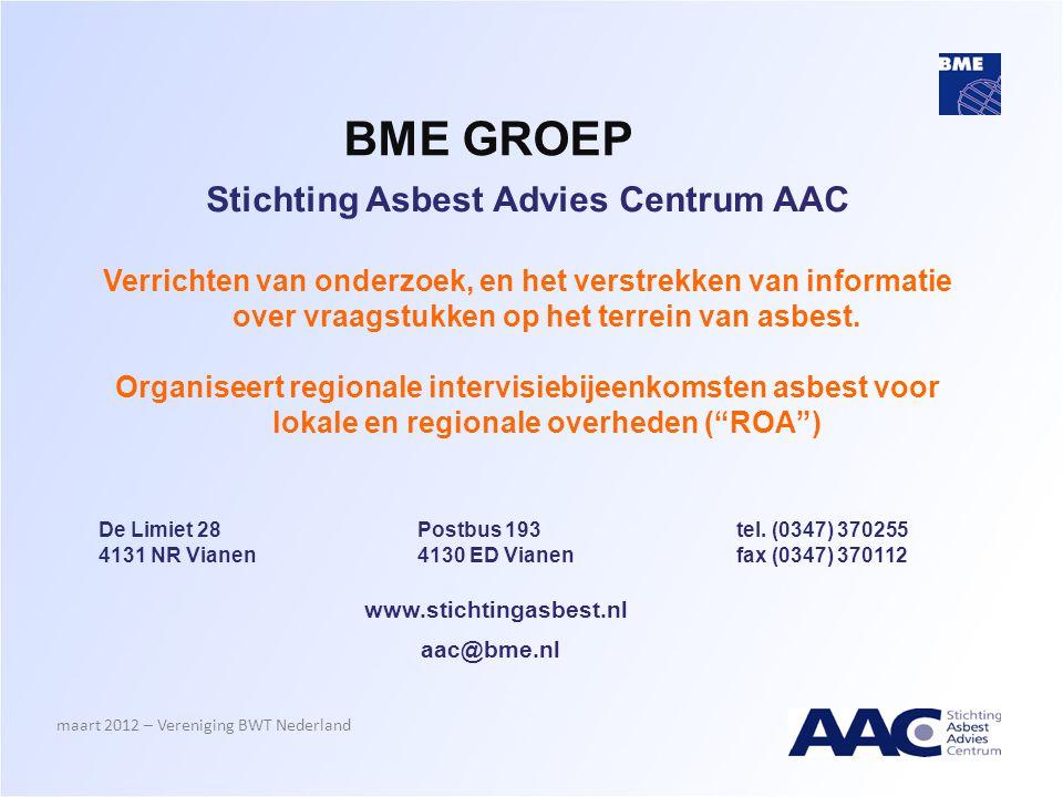 Stichting Asbest Advies Centrum AAC