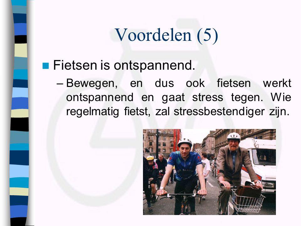 Voordelen (5) Fietsen is ontspannend.