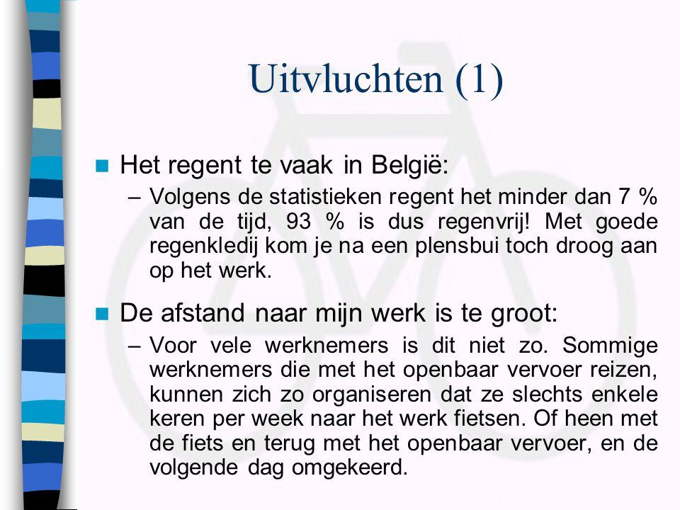Uitvluchten (1) Het regent te vaak in België: