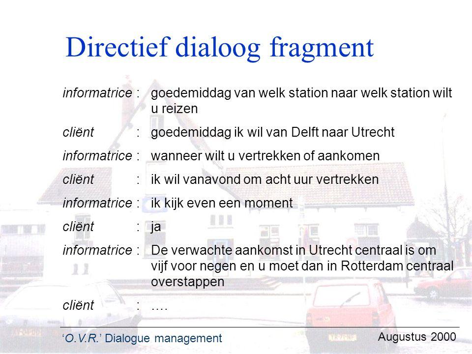 Directief dialoog fragment