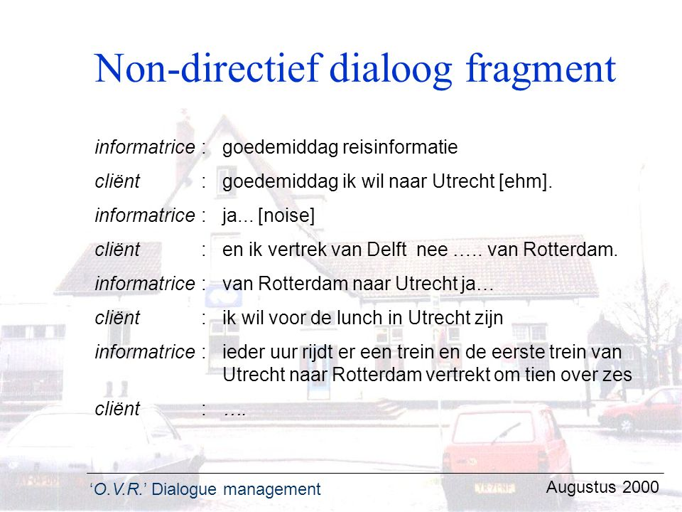 Non-directief dialoog fragment