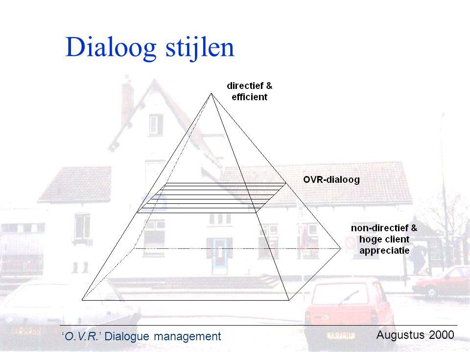 Dialoog stijlen Augustus 2000