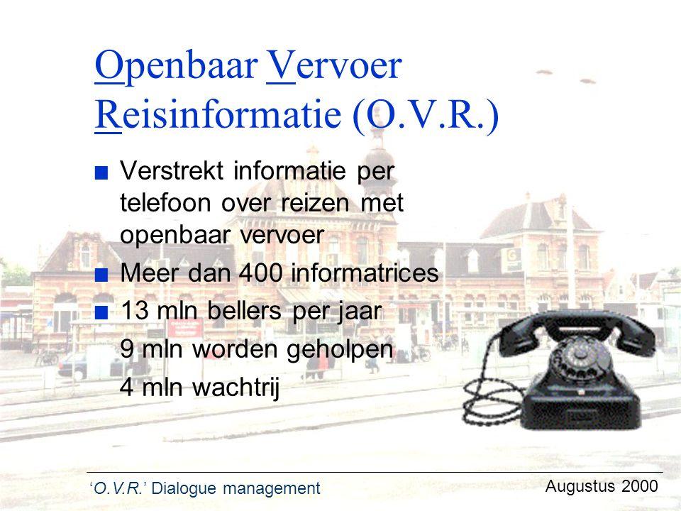 Openbaar Vervoer Reisinformatie (O.V.R.)