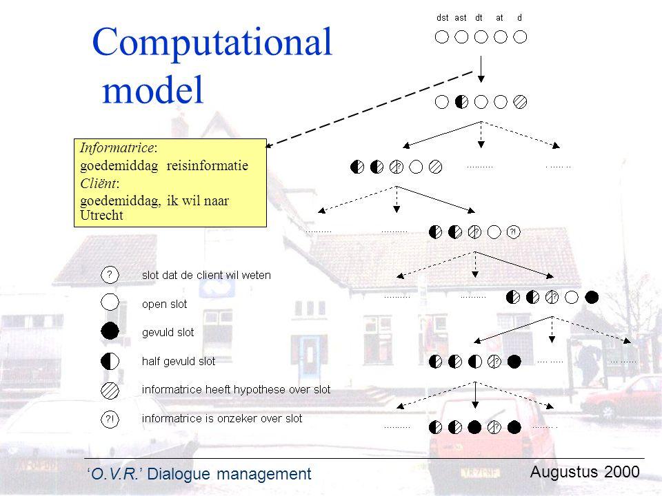 Computational model Augustus 2000 Informatrice: