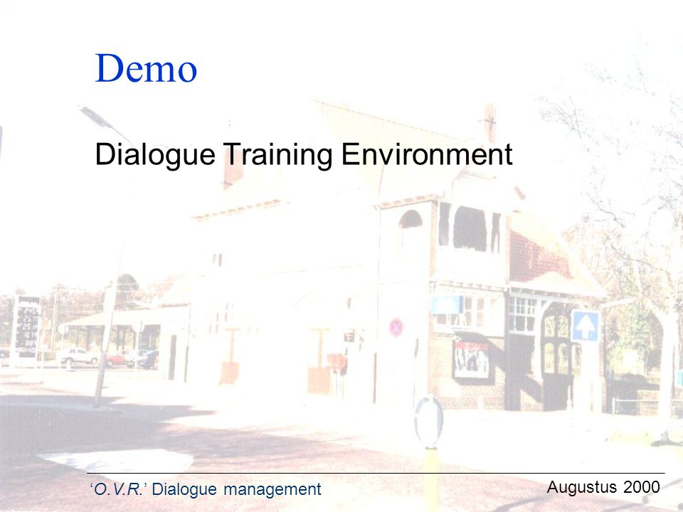 Demo Dialogue Training Environment Augustus 2000
