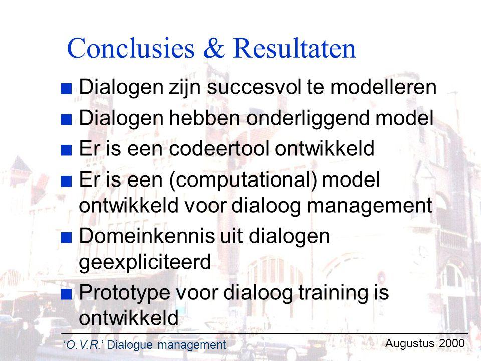 Conclusies & Resultaten