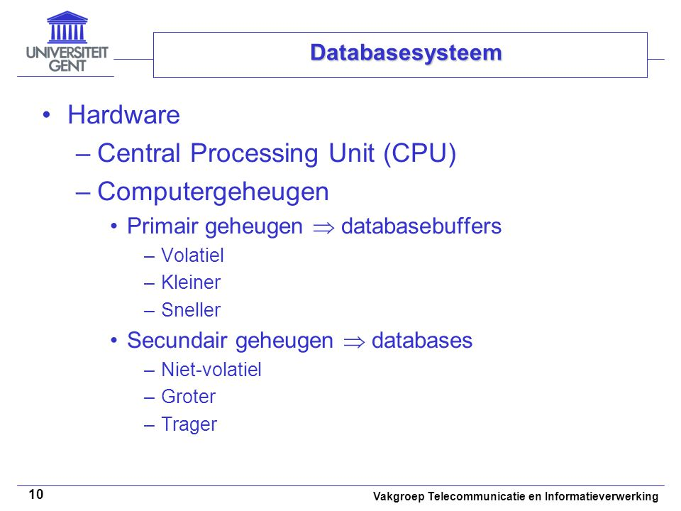 Central Processing Unit (CPU) Computergeheugen