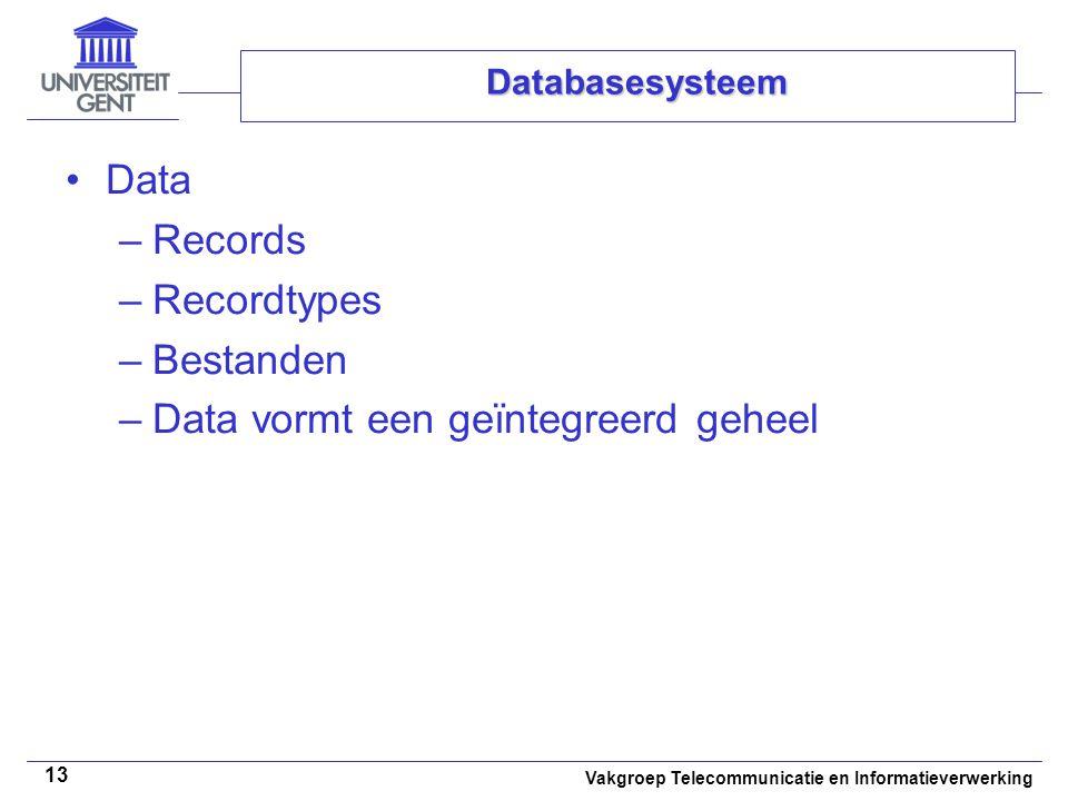 Data vormt een geïntegreerd geheel