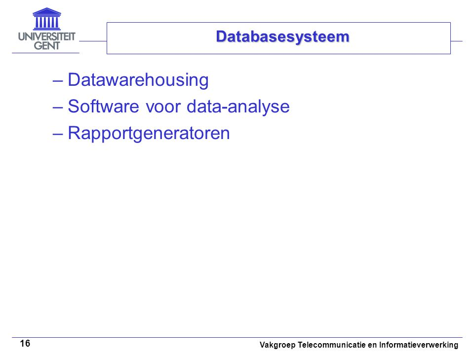 Software voor data-analyse Rapportgeneratoren