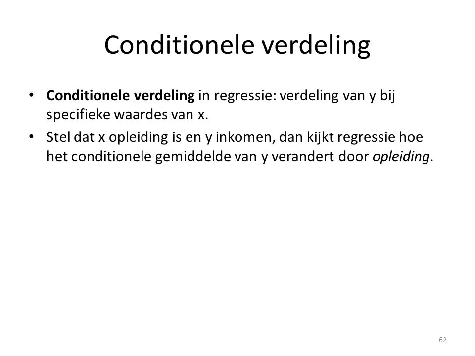 Conditionele verdeling